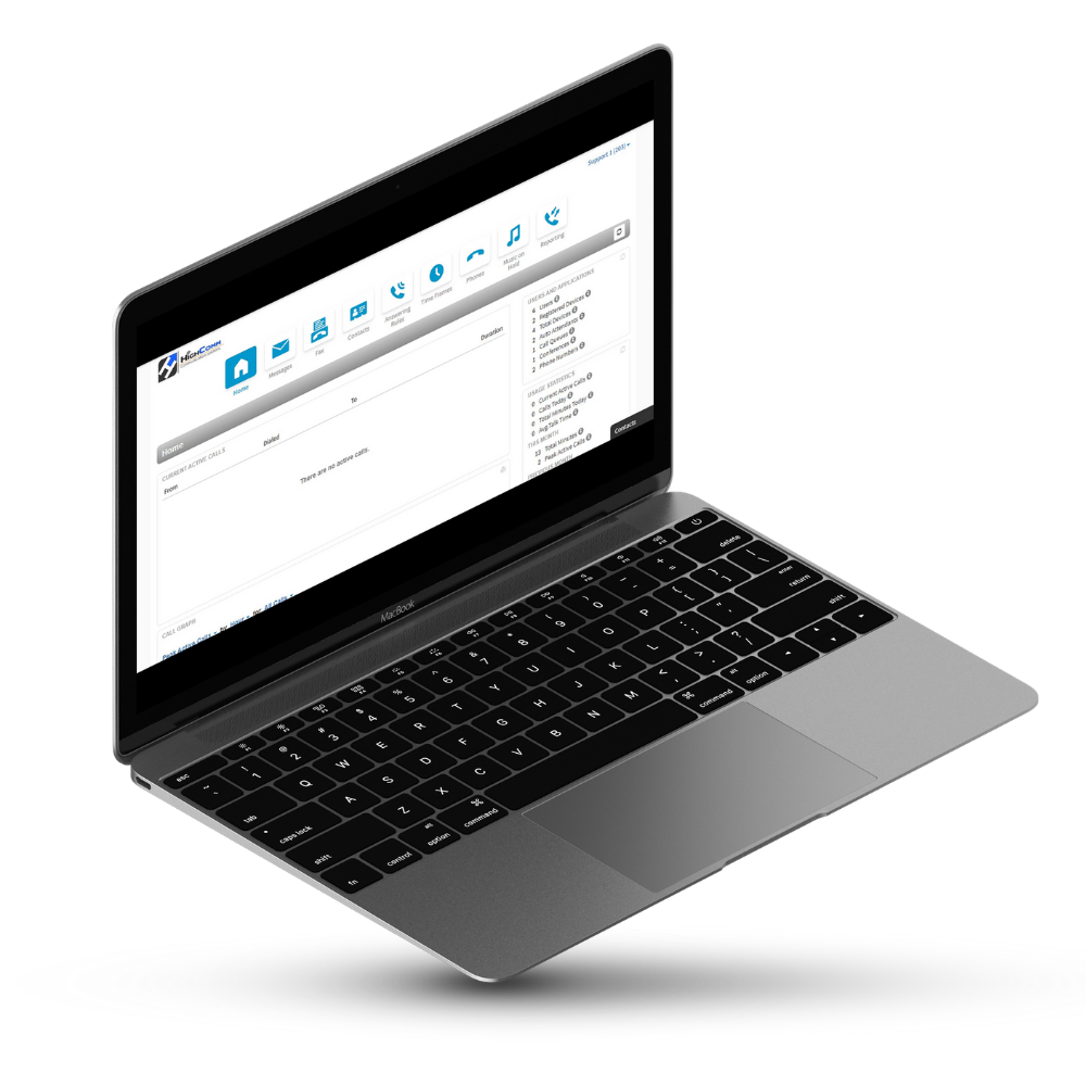 highcomm platform on laptop